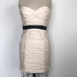Bebe M lace strapless dress